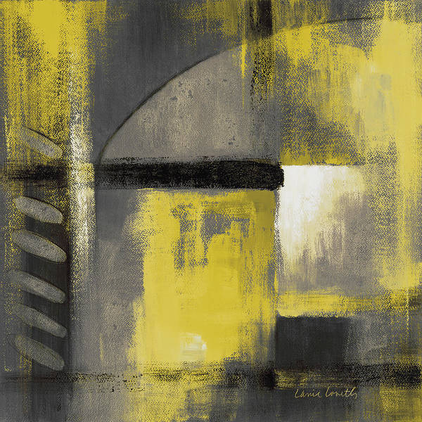 Wall Art - Painting - Grey And Yellow Soiree I by Lanie Loreth