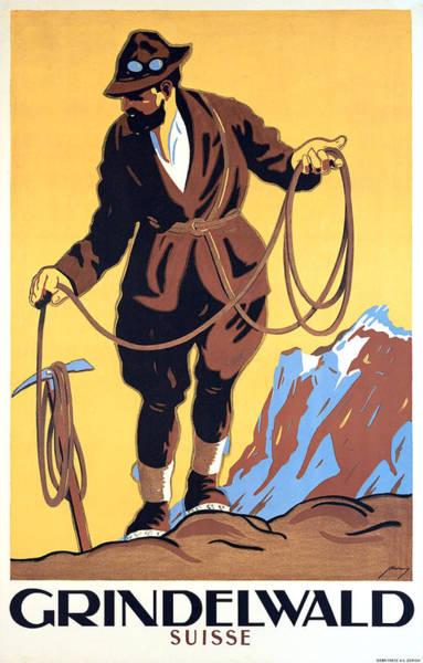 Mounted Digital Art - Grindelwald by Long Shot