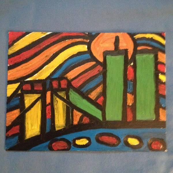 Wall Art - Painting - Ground Zero Memorial by Ronald Carlino