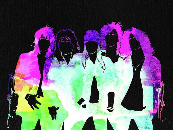 Guns And Roses Wall Art - Mixed Media - Guns N' Roses Watercolor by Naxart Studio