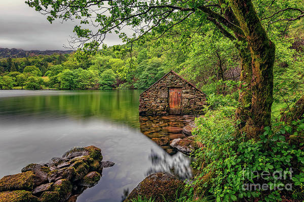 Wall Art - Photograph - Gwynant Lake Boat House by Adrian Evans