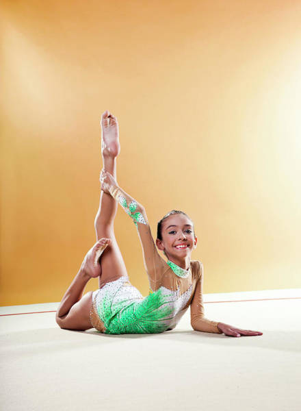 Toothy Smile Photograph - Gymnast, Smiling, Bending Backwards by Emma Innocenti