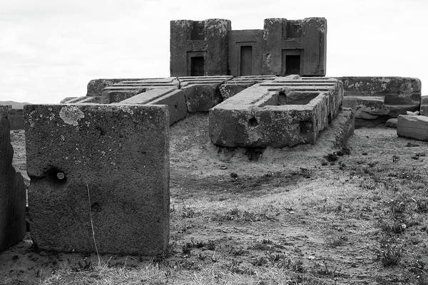 Photograph - H-blocks At Puma Punku, Bolivia by Aidan Moran