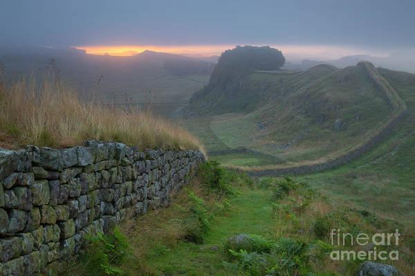 Photograph - Hadrians Wall Sunrise by Brian Jannsen