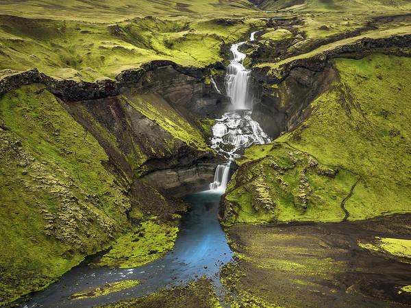Photograph - Haifoss Waterfalls-iceland by Usha Peddamatham