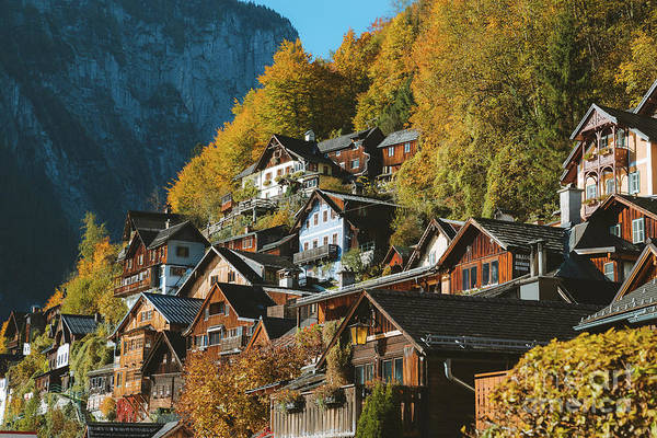 Wall Art - Photograph - Hallstatt In Fall by JR Photography