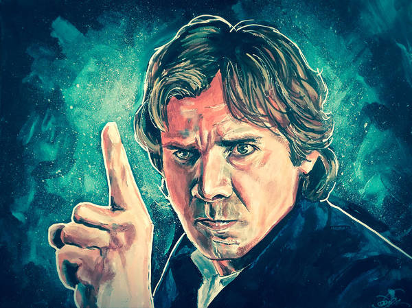 Painting - Han Solo  by Joel Tesch
