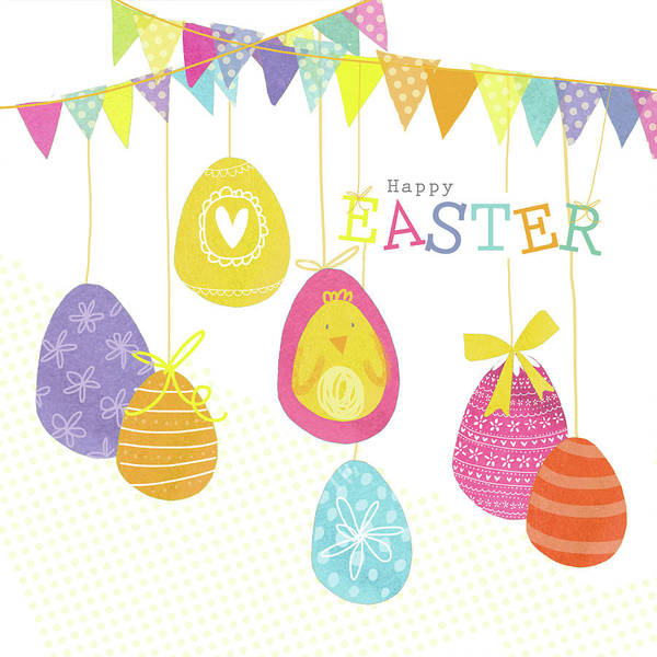 Wall Art - Digital Art - Happy Easter by A.v. Art