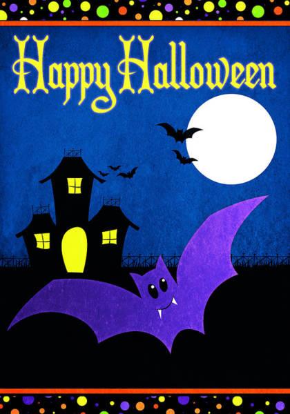 Pumpkin Digital Art - Happy Halloween II by Josefina
