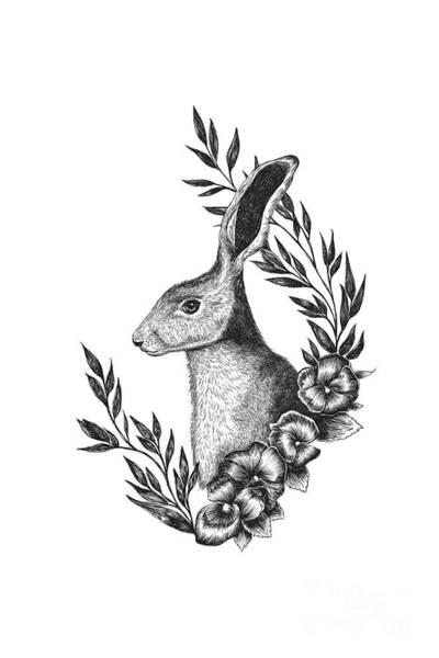 Haring Digital Art - Hare by Randoms Print
