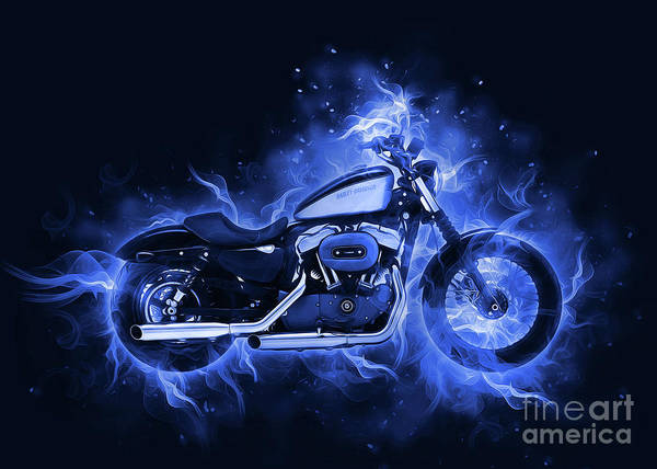 Digital Art - Harley Davidson Sportster by Ian Mitchell