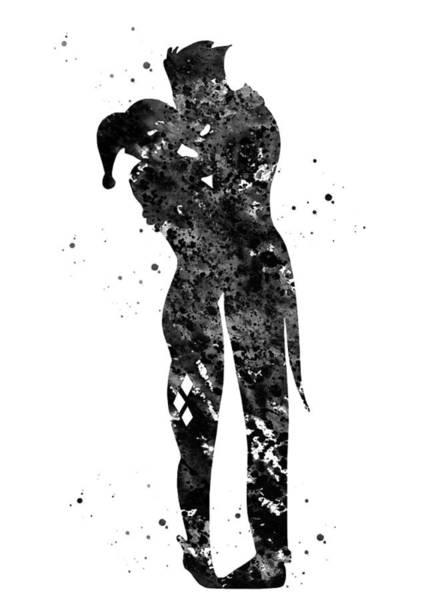Harley Quinn Wall Art - Digital Art - Harley Quinn And Joker by Erzebet S