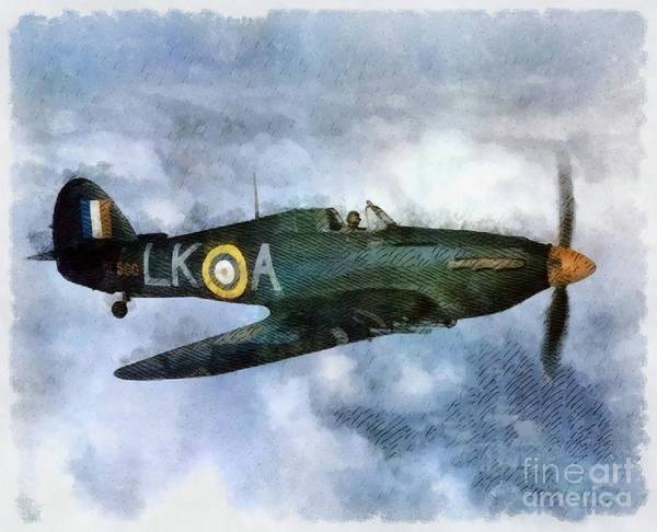 Wall Art - Painting - Hawker Hurricane, Wwii by John Springfield