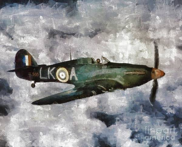 Wall Art - Painting - Hawker Hurricane, Wwii by Mary Bassett