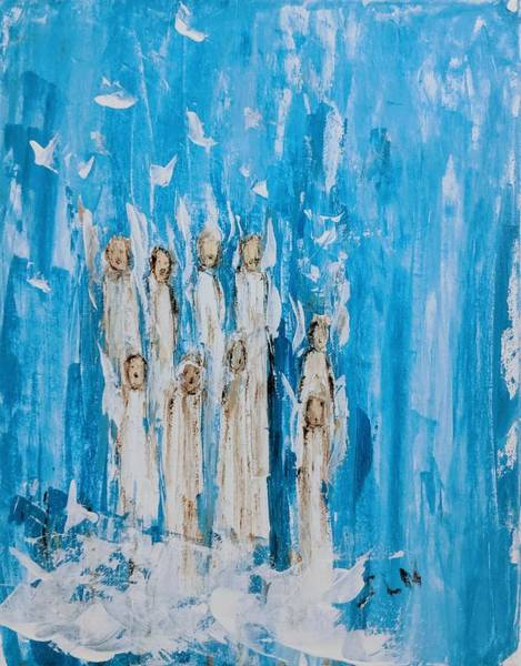 Painting - Heavenly Host Of Angels  by Jennifer Nease