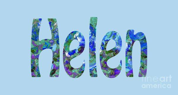 Digital Art - Helen 2 by Corinne Carroll