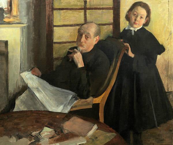 Painting - Henri Degas And His Niece Lucie Degas by Edgar Degas