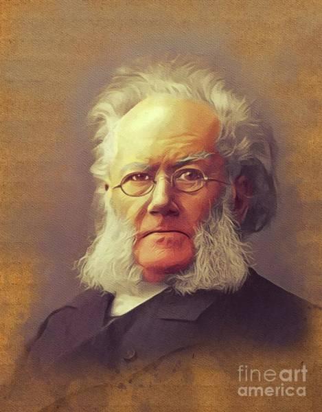 Wall Art - Painting - Henrik Ibsen, Literary Legend by John Springfield