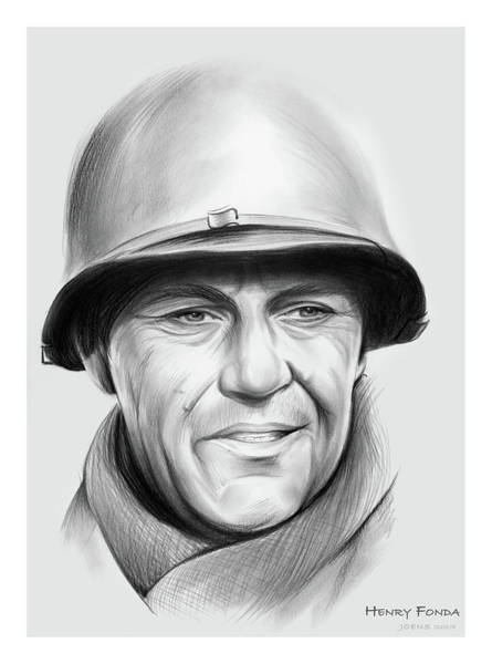 Wall Art - Drawing - Henry Fonda by Greg Joens