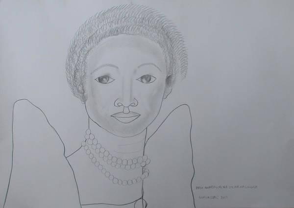 Painting - Her Royal Highness Nnabagereka Sylvia Nagginda  by Gloria Ssali
