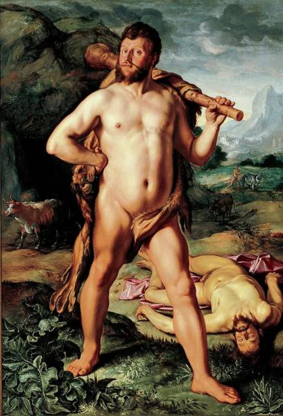 Wall Art - Painting - Hercules And Cacus by Hendrick Goltzius