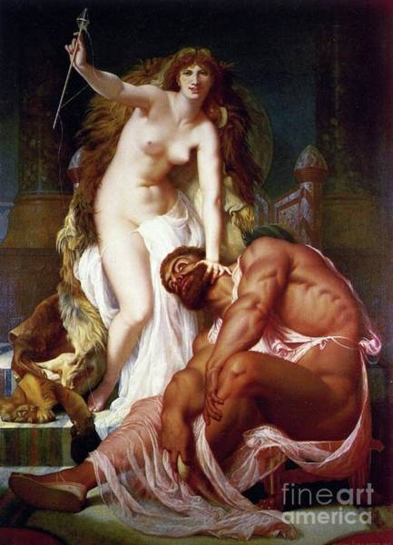 Wall Art - Painting - Hercules And Omphale by Pg Reproductions