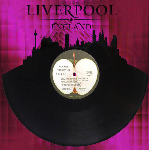 Liverpool Skyline Digital Art - Hey Jude by Tim Palmer