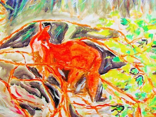 Painting - Hidden Fox by Stanley Morganstein