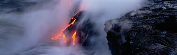 Wall Art - Photograph - High Angle View Of Lava Flowing by Panoramic Images