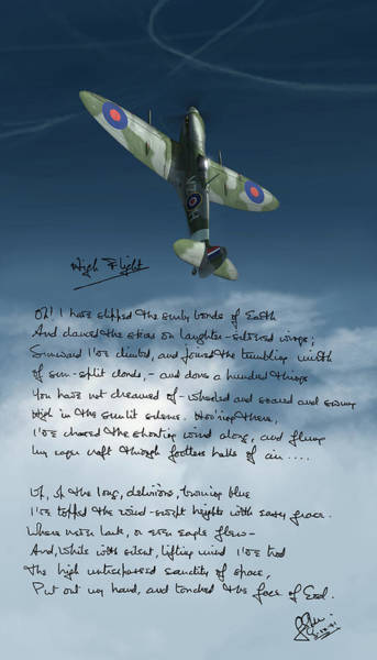 Battle Of Britain Digital Art - High Flight by Hangar B Productions