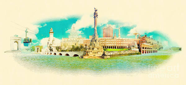 Wall Art - Digital Art - High Resolution Water Color Panoramic by Trentemoller