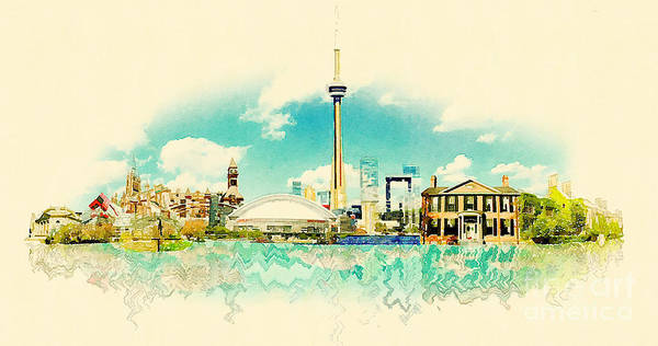 Panoramic Digital Art - High Resolution Watercolor Panoramic by Trentemoller