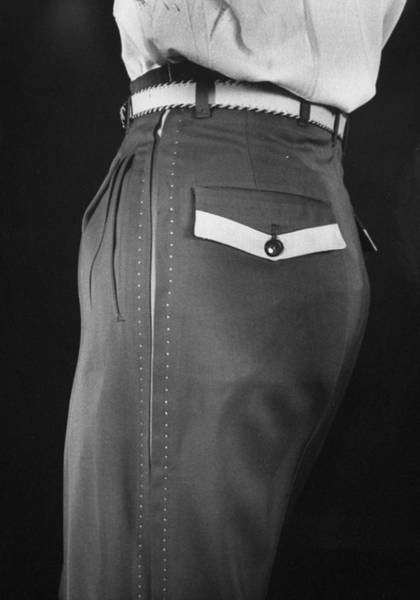 High Style In Mens Fashions, Extreme St Art Print by Nina Leen