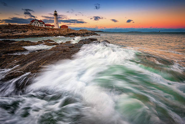 Photograph - High Tide At Dusk by Rick Berk