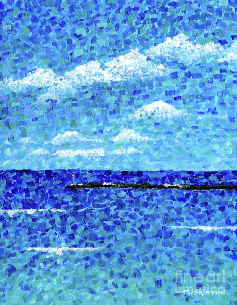 Painting - Hilo Bay Breakwater by Diane Thornton