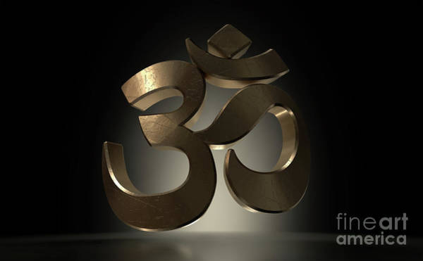 Wall Art - Digital Art - Hindu Aum Symbol Casting by Allan Swart