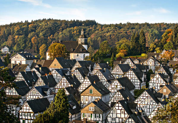Medieval Town Photograph - Historic German Fachwerkhaus Buildings by Er 09