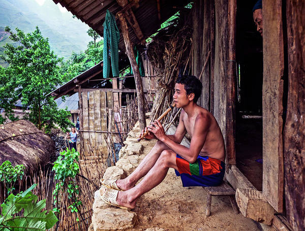 Real People Photograph - Hmong Village In Vietnam by Bruno De Hogues
