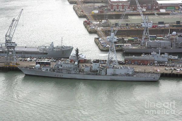 Wall Art - Photograph - Hms Bristol Portsmouth Naval Base, England 2007 by Glenn Harvey