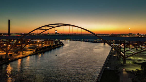 Photograph - Hoan Bridge At Dusk by Randy Scherkenbach
