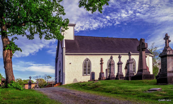 Halifax Nova Scotia Digital Art -  Holy Cross Cemetery And Our Lady Of Sorrows Chapel by Ken Morris