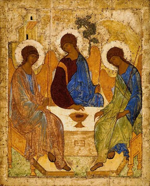 Wall Art - Painting - Holy Trinity  Troitsa   by Andrei Rublev