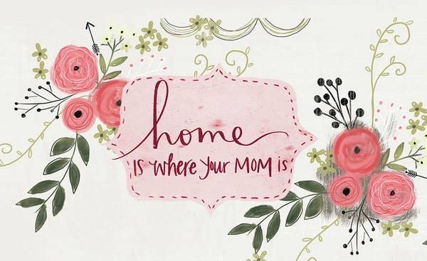 Wall Art - Mixed Media - Home Is Where Your Mom Is by Katie Doucette