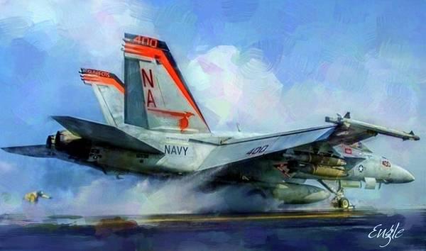 Wall Art - Digital Art - Hornet Launch by Robert Engle