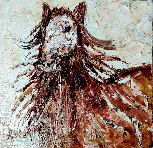 Wall Art - Painting - Horse-1 by Anand Swaroop Manchiraju