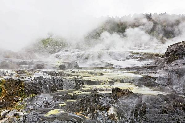 Sulphur Photograph - Hot Springs In Rotorua, New Zealand by Design Pics