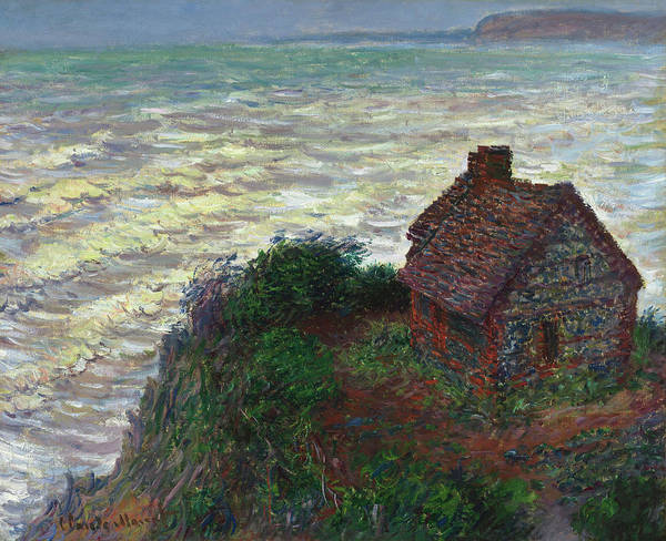 Wall Art - Painting - House Of The Customs Officer, Varengeville by Claude Monet