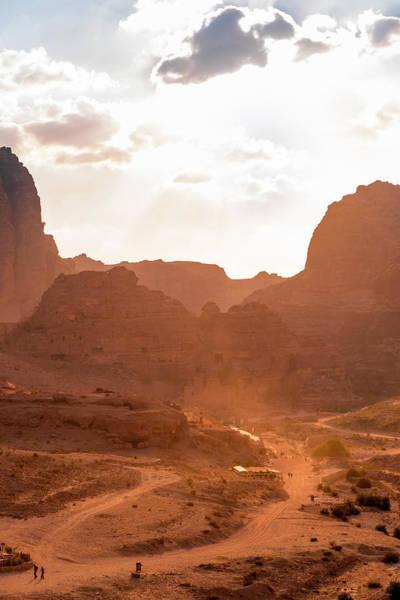 Wall Art - Photograph - Houses Beaten Into Rocks Nabataean City Of Petra Near Wadi Musa Jordan by imageBROKER - Moritz Wolf