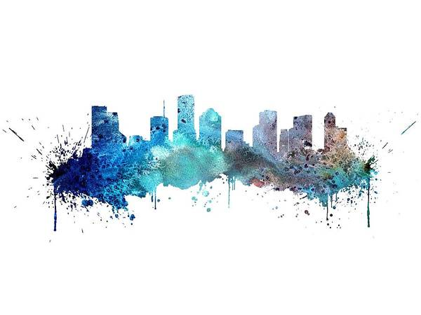 Wall Art - Digital Art - Houston by Erzebet S