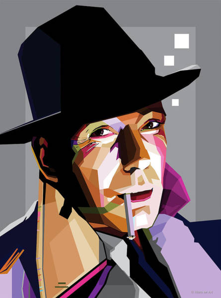 Wall Art - Digital Art - Humphrey Bogart by Stars-on- Art